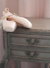 Olympus French Style Lamp Table Shabby Chic Aged Khaki Sage & Frame