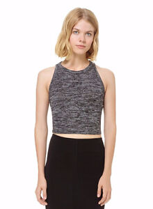 Aritzia Winberg Crop Top - Heather black - Size S