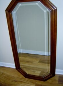 ANTIQUE HALL CABINET WITH MATCHING MIRROR London Ontario image 6