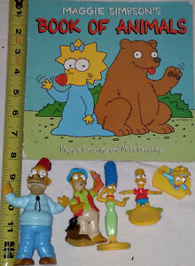 Maggie Simpson's Book of Animals & 5 Toy Figures