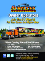 AZ OWNER OPERATORS OR LEASE DRIVERS TO RUN MONTREAL LANES