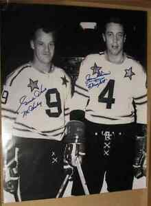 Signed picture of Gordie Howe and Jean Beliveau