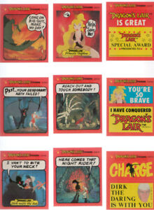 1983 Dragon s Lair Bubble Gum Cards Stickers Video Game