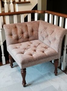 Tufted Upholstered Corner Chair