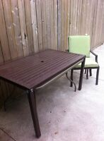 Patio set with 6 chairs and table