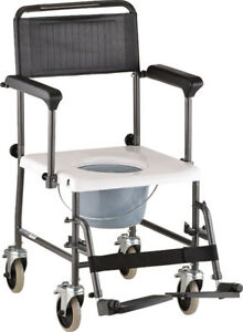 NOVA Medical Products Drop-Arm Transport Chair Commode 8805