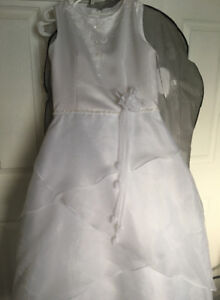 Brand New Girls White Party Gown