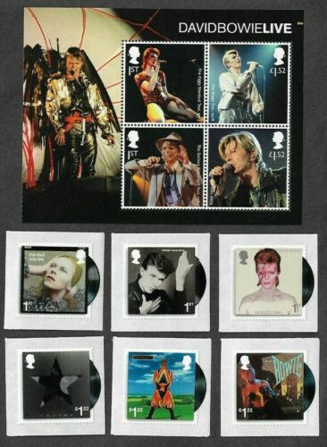 David Bowie-2018 set and min sheet mnh-Great Britain stamps-music Royal Mail