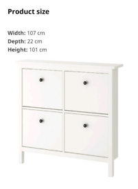 Ikea Shoe Cabinet x 2 (£70 for both)