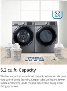 SAMSUNG STEAM WASHER AND DRYER PAIR LIMITED STOCK