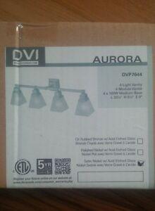DVI 4-LIGHT BATHROOM VANITY LIGHT (BRAND NEW IN THE BOX)