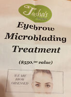 Eyebrow microblading treatment gift card