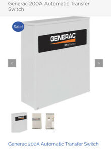 GENERAC 200 Amp Automatic WHOLE House Transfer SWITCH. NEW-Inbox