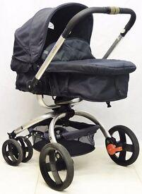 Mothercare Spin Pram and Pushchair- Black Jacquard