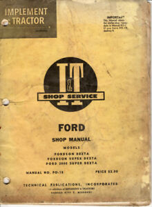 Old tractor shop service manuals