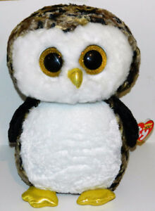 """Ty Beanie Boos Large 17"""" Camo Barn Owl Owliver New With Tags"""