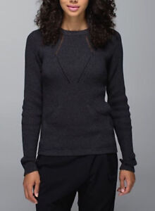Lululemon The Sweater The Better Top Size 4 Charcoal Grey