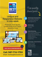 Website in a week, at lowest price