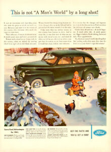 Large (10 ¼ x 14) color magazine ad for 1941 Ford Automobile