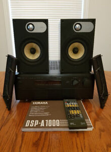 Yamaha dsp-a1000 amplifier, with bowers wilkens 686 speakers b&w