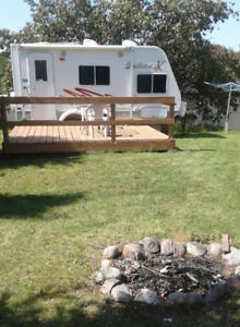 Co-operatively owned Campsite Lot with trailer