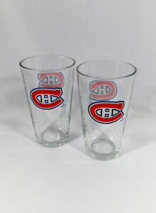 Montreal Canadians 12oz Drinking Glasses 2 Pieces NHL Hockey