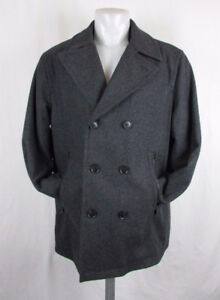 MICHAEL KORS WOOL COAT PEACOAT DARK GREY MEN'S  NEVER WORN SIZE
