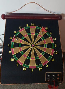 Magnetic Dart Board - High Quality - Double Sided - 6 Darts