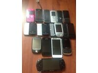 14 phones and 1 psp £50