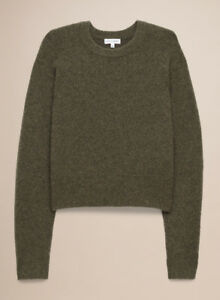 Aritzia Community Madras sweater, green, size x-small
