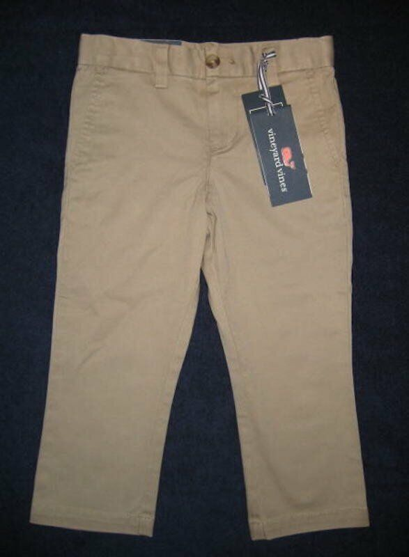 VINEYARD VINES Boys Stretch Breaker Pant, Size 3T, NWT, Khaki