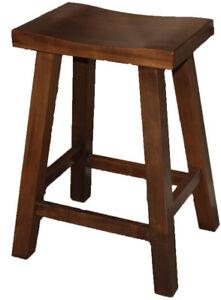 Mennonites made heavy duty local maple wood saddle bar stool