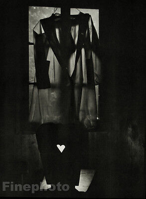 1959/78 JOSEF SUDEK Czech Photo Gravure SURREAL CLOTHING HEART Fashion Love Art