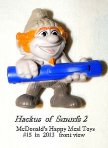 Hackus , Smurf 2 film, Happy Meal toy figurine, 2013