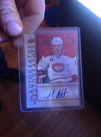 tim hortons sighed max pacioretty card