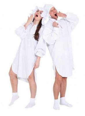 Nacht Hemd Schlaf Anzug Schlafhemd Damen Kostüm Nachthemd Schlafwandler - Nachthemd Kostüm