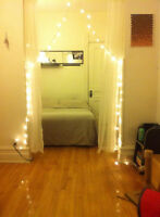 Double sized bedroom / Chambre double 420$ Plateau