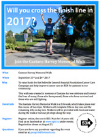 Looking for walkers to join the Gaetane Harvey Memorial Walk