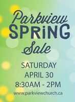Parkview Church Spring Sale