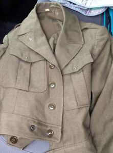 Vintage female military jacket.