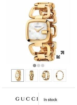 Gucci G Gold Ladies Bracelet Watch YA125513 £720 RRP