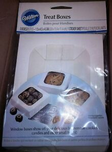 Wilton treat boxes with window size small approx 80 boxes $30