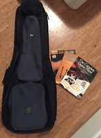 Guitar back pack case and 3 learn to play booklets