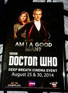 Doctor Who Screening Poster - Framed - 2014 RARE