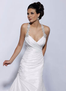 CUSTOM BEADED MAGGIE SOTTERO GOWN & Beaded hair piece