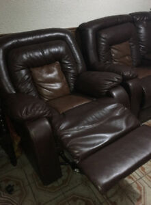 SINGLE RECLINER SOFA AND RECLINING LOVESEAT + LOUNGE CHAIR