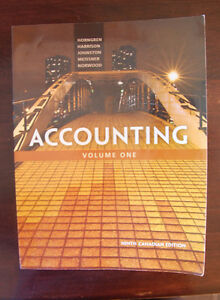 Accounting Volume One, Ninth Canadian Edition
