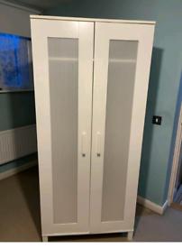 White single ikea wardrobe