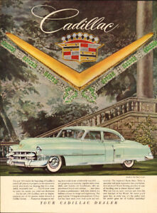 Beautiful 1953 full-page color magazine ad for Cadillac