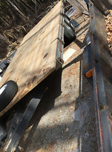 20 foot long flat deck trailer